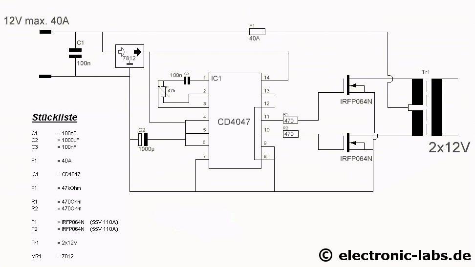 Fantastisch Wechselrichter 12 Volt Schaltplan Bilder - Elektrische ...
